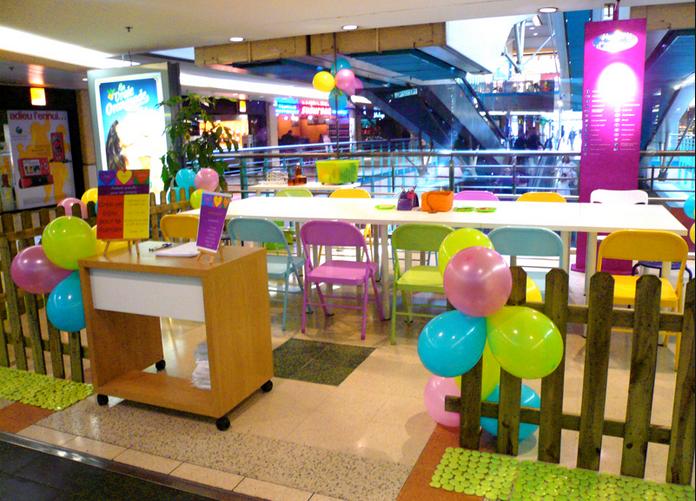 animation d`ateliers en centre commerciaux